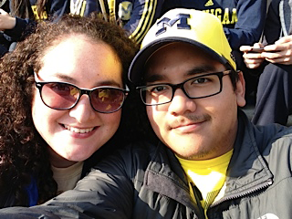 Yvonne and I enjoying a Michigan football game during Homecoming Weekend!