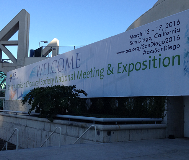 The conference's welcome banner.