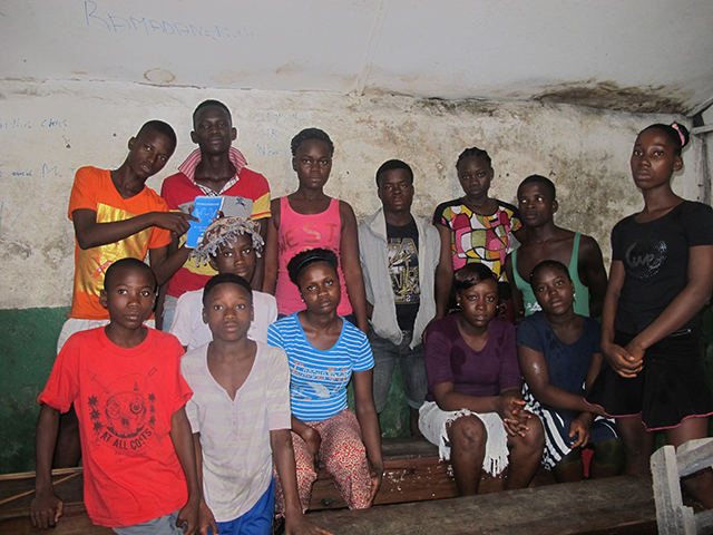 Students of West Point, Monrovia: Abraham, Vivian, Patience, Jacqueline, Lorpu and their peers.