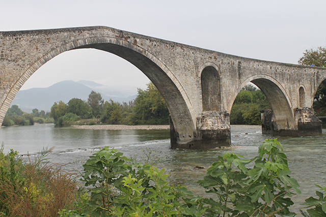 Bridging the gap into the real world at Arta, Greece.