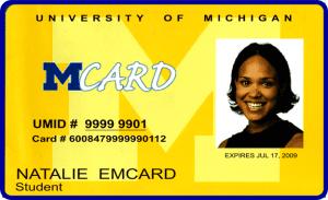 University of Michigan Mcard