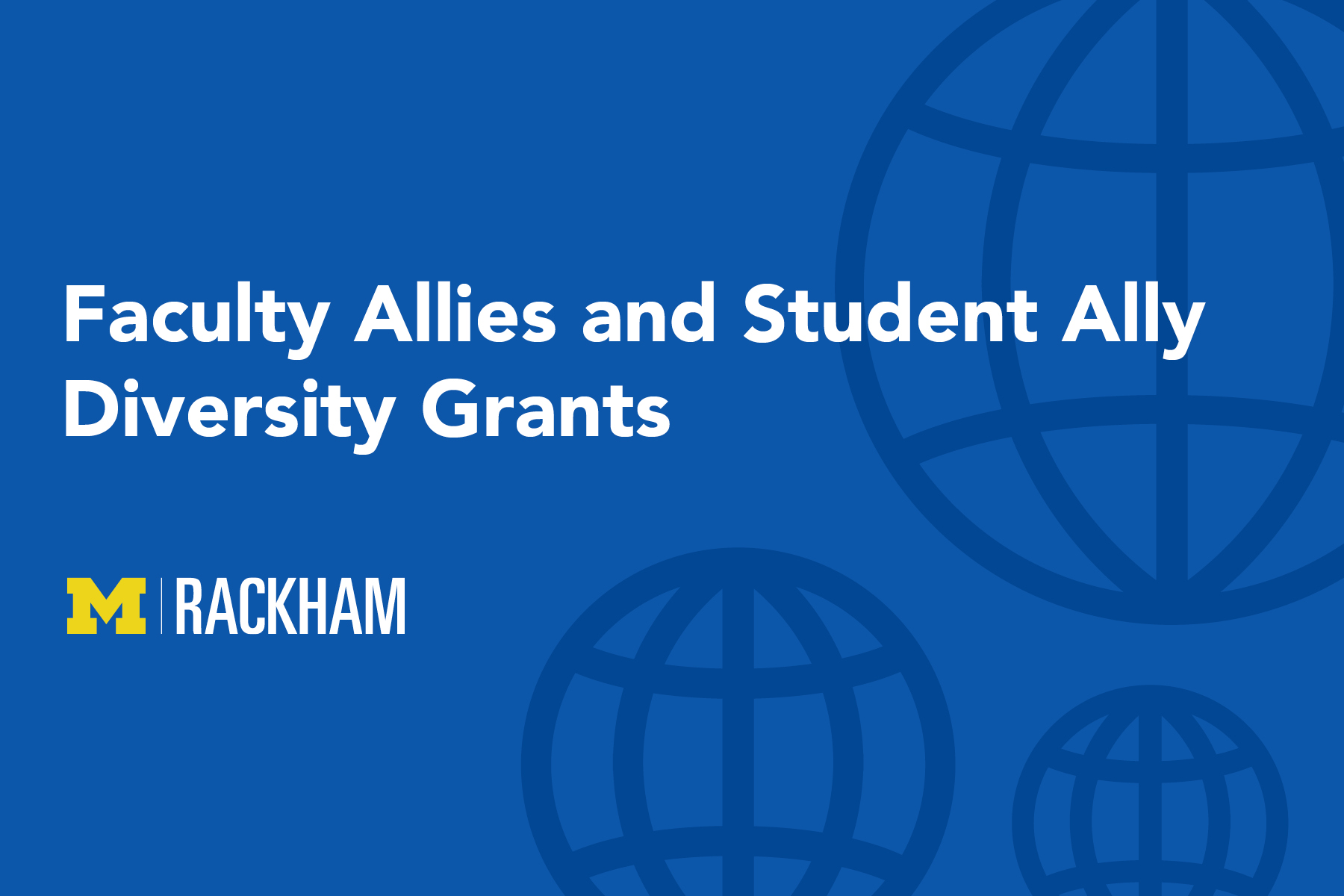 Faculty Allies and Student Ally Diversity Grants Open for Applications