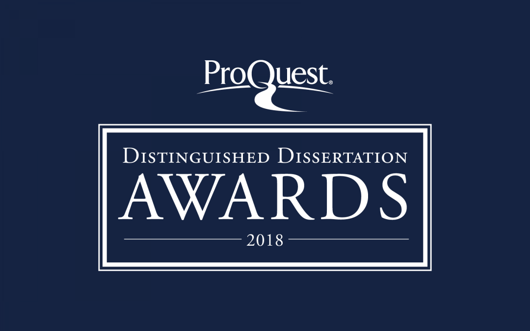 ProQuest Distinguished Dissertation Award Winners