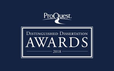 ProQuest Distinguished Dissertation Award Winners
