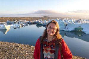 Rebecca Dzombak in Iceland