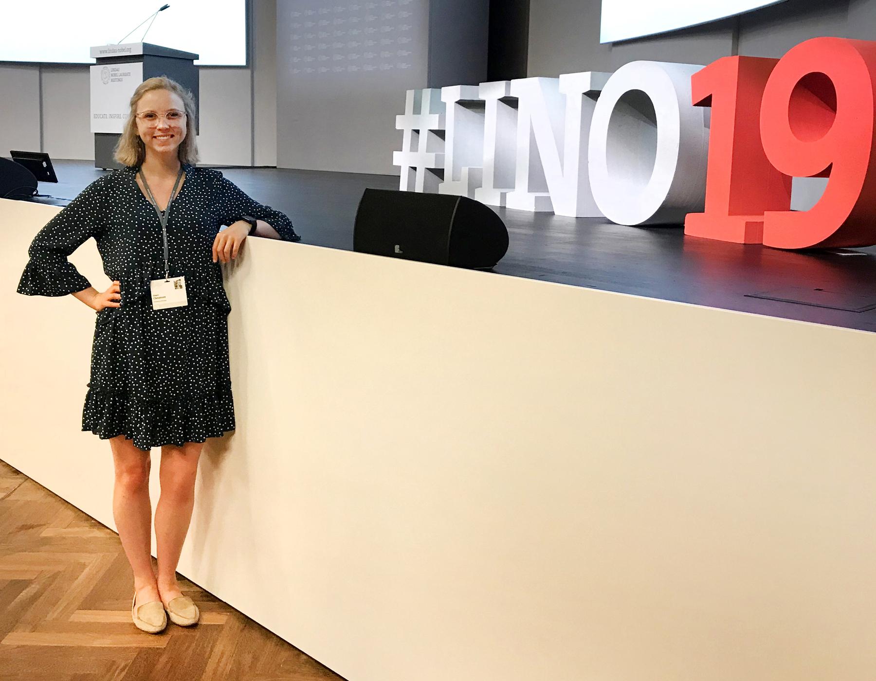 Grace Chesmore at the Lindau Nobel Laureates Meeting