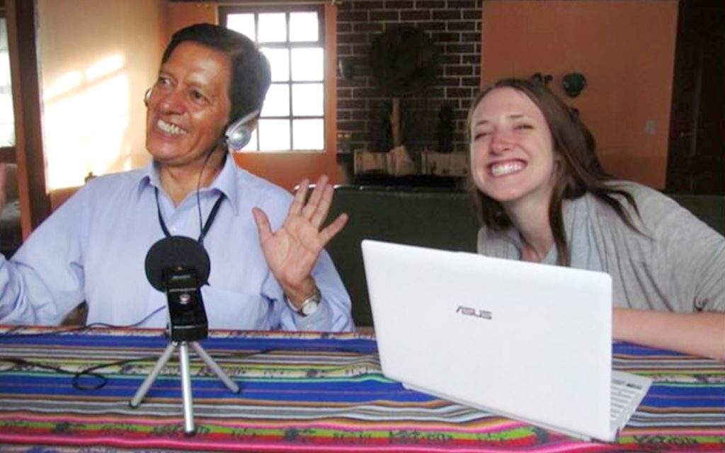 Emily Sabo with Quechua interpreter Jose Maldonado