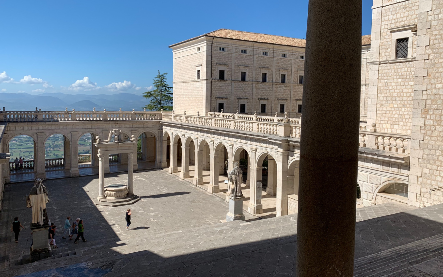 The courtyard of Monte Cassino abbey.